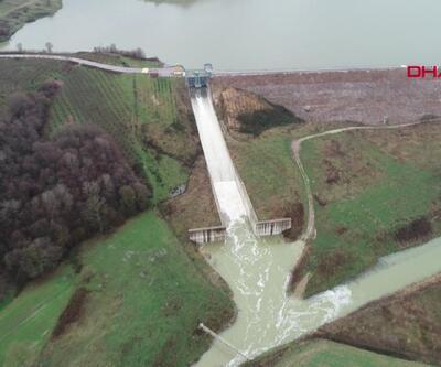 Namazgah Barajı doldu, taştı