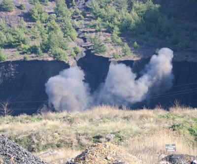 Kazıda bulunan top mermileri tek tek patlatıldı