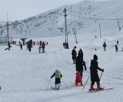 Kayak merkezinde hafta sonu yoğunluğu