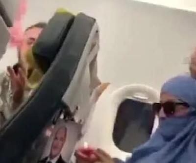 Uçakta olay çıkaran kadın yaptıklarını hatırlamadı