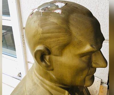 Atatürk büstüne hasar veren kişi tutuklandı