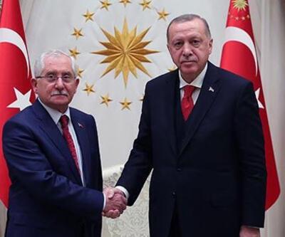 Cumhurbaşkanı Erdoğan, YSK Başkanı Sadi Güven'i kabul etti