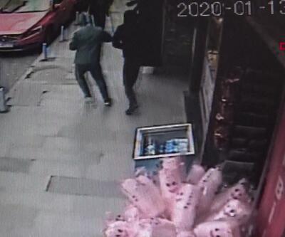 Kuyumcudaki soygun girişimi kamerada