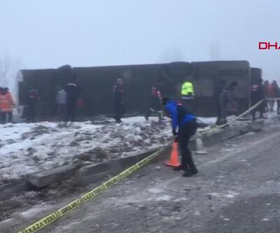Isparta'da yolcu otobüsü devrildi: Yaralılar var