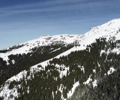 Karla birlikte eşsiz manzaralar ortaya çıktı