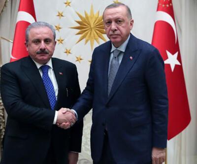 Cumhurbaşkanı Erdoğan TBMM Başkanı Şentop'u kabul etti