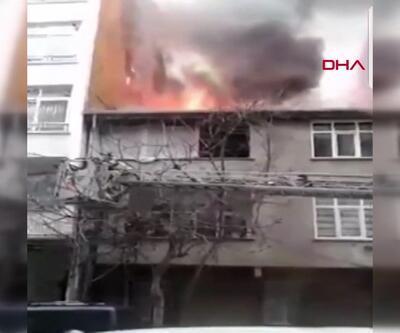 Yangından çocukları ağaca tırmanıp kurtardılar