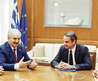 Komşumuz Yunanistan'ın Libya telaşı: Atina'ya çağırıp Hafter'e taktik verdiler