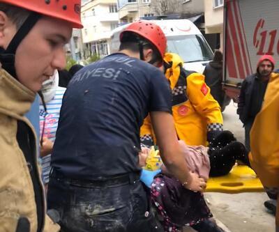 Arnavutköy'de küçük kız inşaattaki kuyuya düştü
