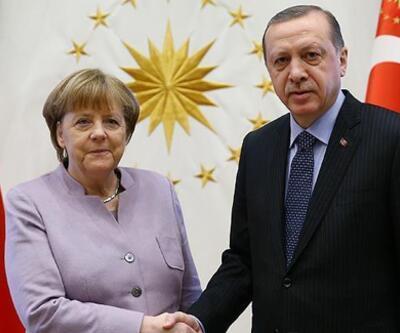 Cumhurbaşkanı Erdoğan, Merkel görüştü