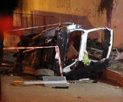 Köprüden uçup duvara çarptı: 2 ölü