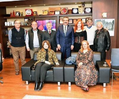 Adanalı edebiyatçılardan Başkan Çetin'e ziyaret