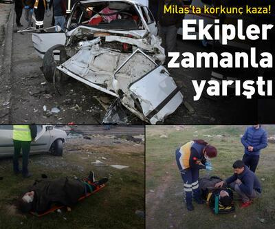 Milas'ta korkunç kaza!