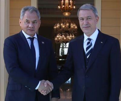 Rusya Savunma Bakanı Şoygu, Milli Savunma Bakanı Akar ile görüştü