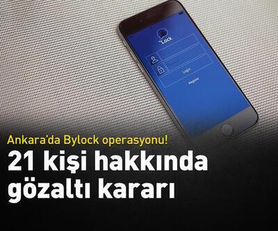 Ankara'da Bylock operasyonu!