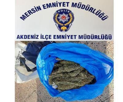 Mersin'de 10 hırsızlık olayı aydınlatıldı, 1 kilogram esrar ele geçirildi