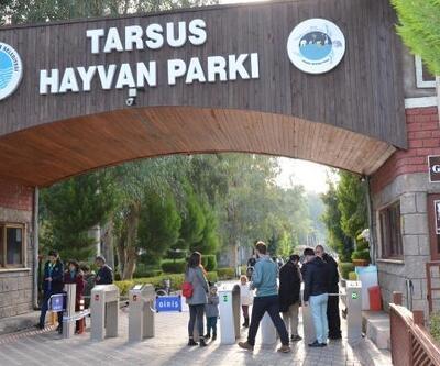 Öğrencilerden Tarsus Hayvan Parkı'na yoğun ilgi