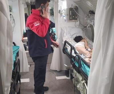 Minik Mukaddes ambulans uçakla Ankara'ya sevk edildi