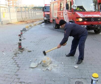 Marmaray durağında çıkan yangın seferleri aksattı