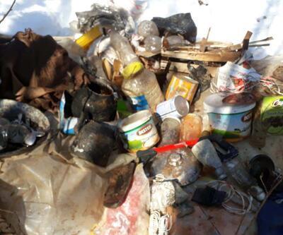 Terör örgütüne ait sığınaklar imha edildi