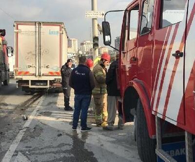 Arnavutköy'de trafik kazası: 2 yaralı