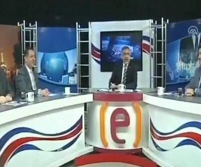 Elazığ'daki deprem anı yerel TV'de böyle görüntülendi