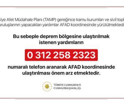 """Cumhurbaşkanlığı'ndan """"deprem yardımları AFAD koordinesinde ulaştırılsın"""" uyarısı"""