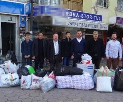 İncirliova'dan depremzedeler için yardım