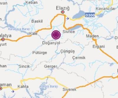 Elazığ'da 5.1 büyüklüğünde deprem