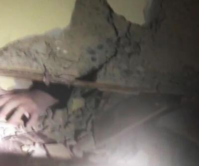 Elazığ depreminde Azize'nin kurtarılma anı!