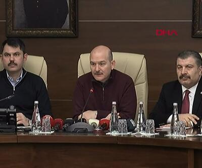 Bakanlar Elazığ depremi ile ilgili bilgilendirme toplantısında konuşuyor