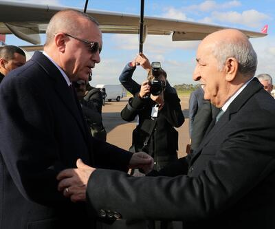 Cumhurbaşkanı Erdoğan Cezayir'e geldi