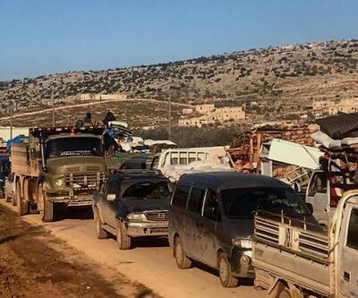 İdlib'den Türkiye sınırına gelenlerin sayısı 480 bini geçti