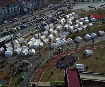 Elazığ'daki Kültürpark'a 484 çadır kuruldu