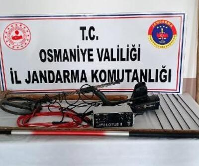 Osmaniye'de kaçak kazıya 4 gözaltı
