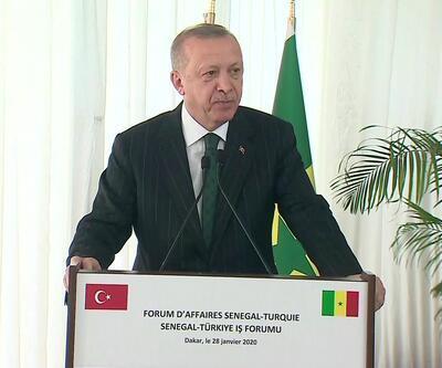 Cumhurbaşkanı Erdoğan Senegal'de: Dünyadaki 10 dev altyapı projesinden 6'sı Türkiye'de