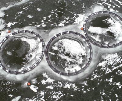 Balık kafesleri buz tuttu