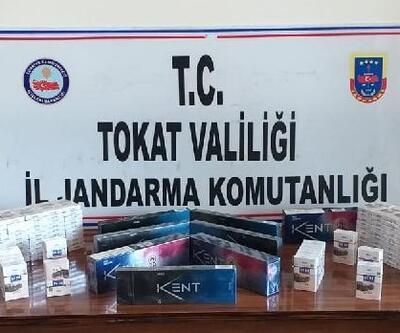 Erbaa'da 230 paket kaçak sigara ele geçirildi