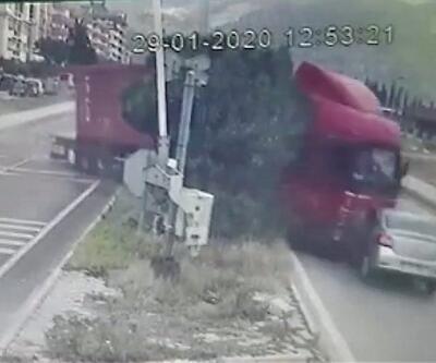 Aydın'daki TIR kazasının görüntüleri ortaya çıktı