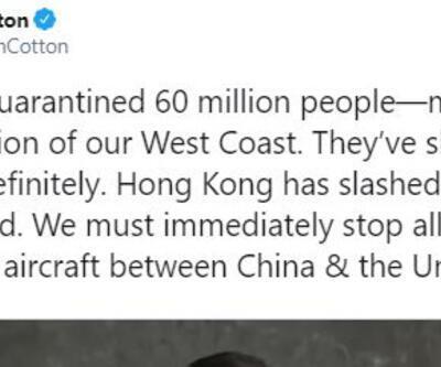 ABD'li senatör: Tüm uçak seferleri durdurulmalı