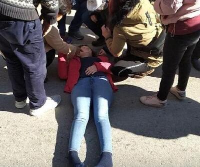 Motosikletin çarptığı hamile kadın, yaralandı