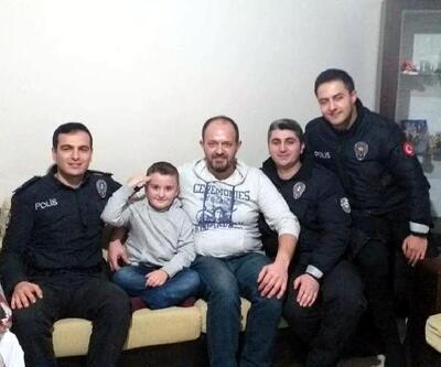 Polisten Tuana'ya doğum günü sürprizi