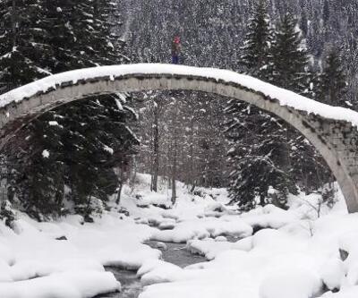 Karadeniz'de kar güzelliği