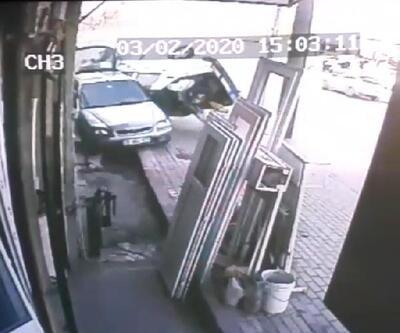 Sürüklenen otomobilin altında kalmaktan saniyelerle kurtuldu