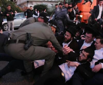 İsrail'de askerlik gerilimi! Tel Aviv'de sert müdahale