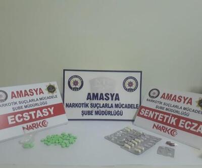 Amasya'da uyuşturucu ticaretine 4 gözaltı