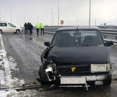 Buzlanma nedeniyle 9 araç birbirine girdi