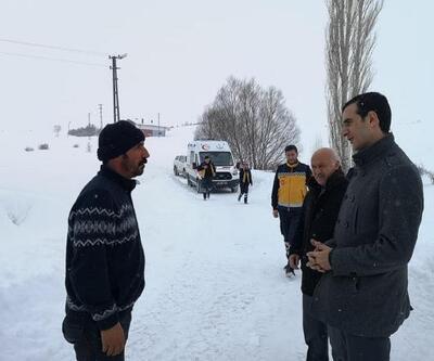 İmranlı'da karla mücadele çalışmaları