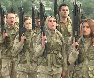 Kadın komandolar göreve hazır