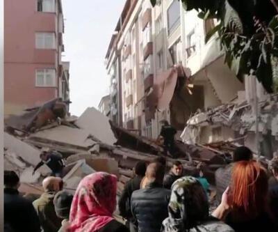 Son dakika... İstanbul Bahçelievler'de 7 katlı bir bina çöktü
